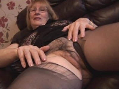 blonde   busty   granny   hairy   pantyhose