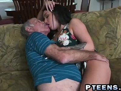 brunette  dick  grandpa  horny  old and young  prostitute