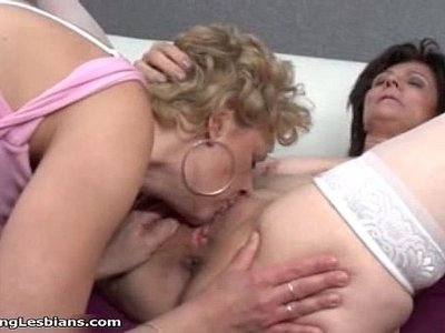 crazy  horny  lesbian  licking  old and young