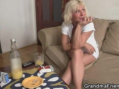 cock  granny  old and young  swallow
