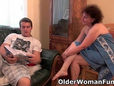 chubby  couch  drilling  grandma
