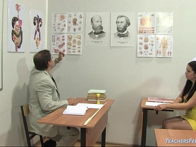 old and young  russian  teacher
